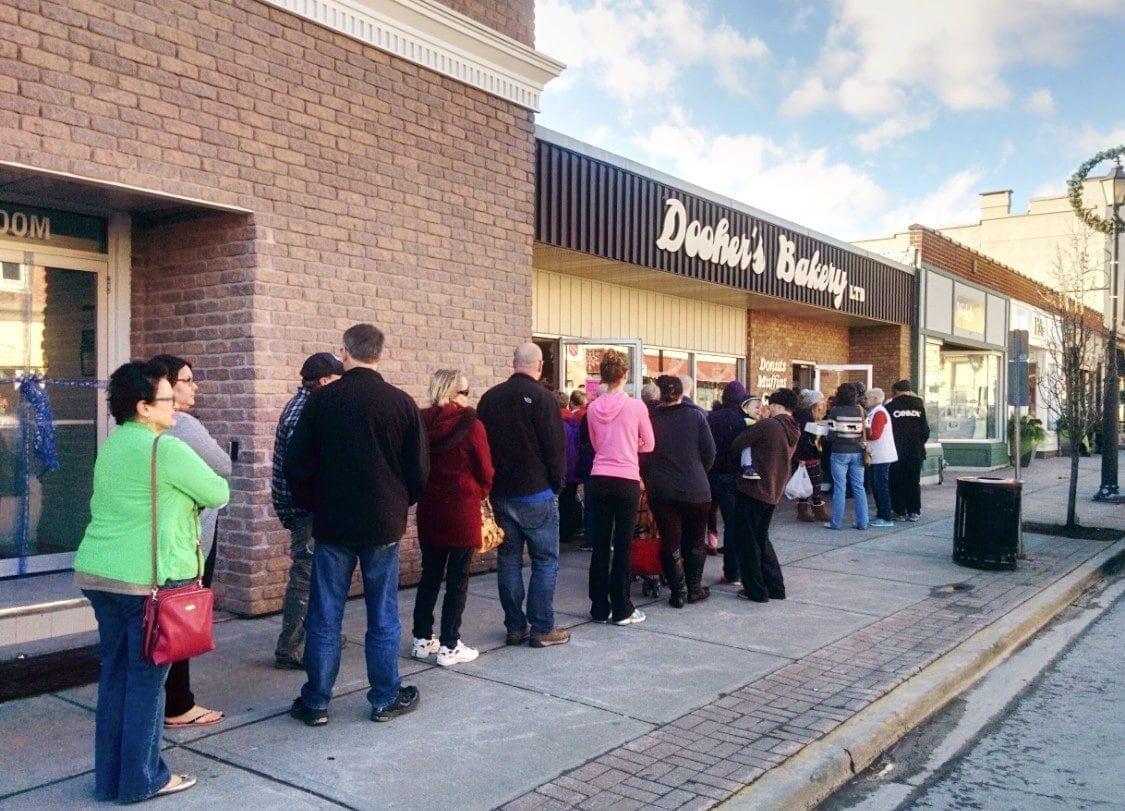 Standing In Line at Dooher's